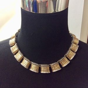 Vintage Chunky Gold Silver Necklace 90s Glam